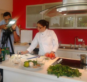 Chef Euda Morales' collaboration in the kitchen is key in creating healthy new recipes.