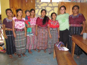 Women at the Konojel Center in San Marcos La Laguna