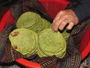 Green healthy tortillas