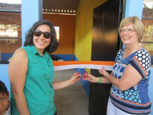 Donor Jo Anne Garcia-Melendez and daughter Veronica cut the ribbon to make it official!