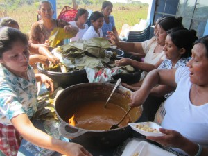 The village women cooked lunch for the entire crowd!