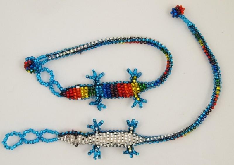 Rainbow gecko bracelet